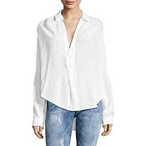 Free People Such Good Things High/Low Blouse
